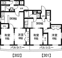 茨城県つくば市東2丁目の賃貸マンションの間取り