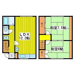 [テラスハウス] 北海道札幌市東区北十一条東11丁目 の賃貸【/】の間取り