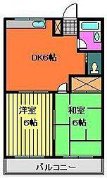 メゾン米倉[201号室]の間取り