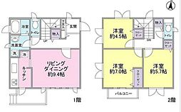 [テラスハウス] 神奈川県横浜市都筑区荏田南3丁目 の賃貸【/】の間取り