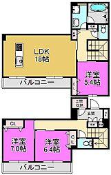 (仮称)堺市・堺区シャーメゾン向陵東町[3階]の間取り
