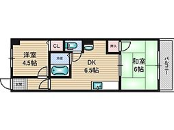 日誠マンション[3階]の間取り