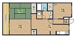 神奈川県川崎市高津区蟹ケ谷の賃貸マンションの間取り