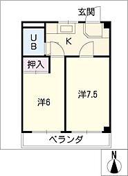 リエス元柴田[3階]の間取り