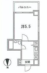 東京都中央区日本橋3丁目の賃貸マンションの間取り