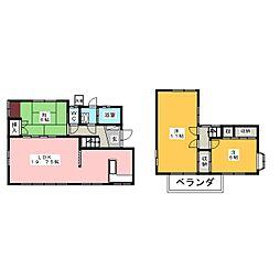 [一戸建] 岡山県岡山市中区乙多見 の賃貸【/】の間取り