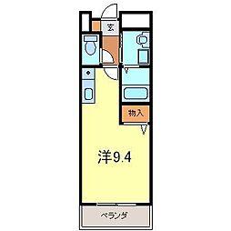 リフティー井上B[105号室]の間取り