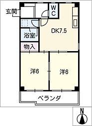 ヴィラ沖田[2階]の間取り