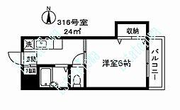 東京都目黒区目黒本町3丁目の賃貸マンションの間取り