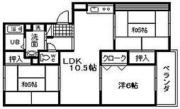 カーサ阪和[305号室]の間取り