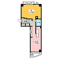 荘苑御園[11階]の間取り