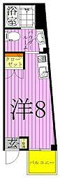 ル・シエル西新井[4階]の間取り
