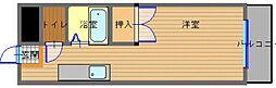 JR長崎本線 道ノ尾駅 徒歩3分の賃貸マンション 2階1Kの間取り