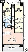 80平米超、LDK17.8帖が最大のポイント、室内はリフォームしてのお渡しバルコニーはワイドスパンで、スロップシンク付きなので、ガーデンニングや洗い物に便利です。
