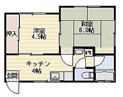 早川コーポII[202号室]の間取り