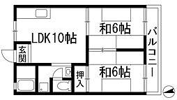 コーポラス和田[1階]の間取り