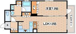 兵庫県神戸市中央区下山手通2丁目の賃貸マンションの間取り