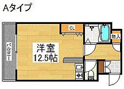 シャトーイズミ[3階]の間取り