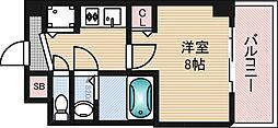大阪府吹田市江の木町の賃貸マンションの間取り