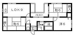 ラカーサ阪南町[2階]の間取り
