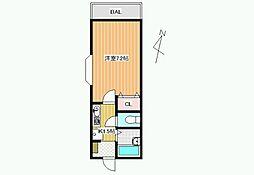 センターフィールドIII[3階]の間取り
