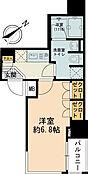 こちらはお部屋の間取り図です。20平米以上あるので洋室6.8帖となりゆとりある空間になっています。