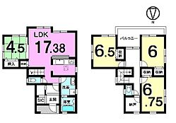 全居室に収納スペースを確保。2階には約2帖の納戸もあり、大家族様でも安心なゆとりある間取りです。