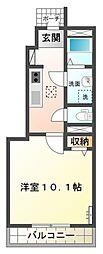 (仮)石岡市東光台スターテラス新築[101号室号室]の間取り