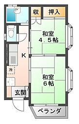エスカルゴ[3階]の間取り