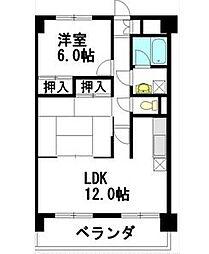 扶桑ハイツ1[4階]の間取り