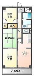 クレセント桜島[4階]の間取り
