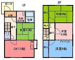 [タウンハウス] 兵庫県姫路市夢前町山冨 の賃貸【/】の間取り