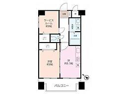 ニックハイム横須賀中央第5[601号室]の間取り