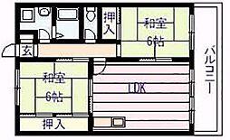 アメニティ カタシモ[3階]の間取り