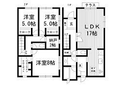 [テラスハウス] 東京都杉並区阿佐谷南1丁目 の賃貸【/】の間取り