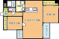 KSK中須コアプレイス[6階]の間取り