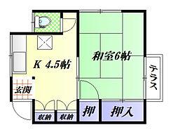 高橋アパート[2F 左号室]の間取り