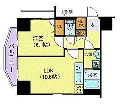 ジェノヴィア浅草駅前スカイガーデン[4階]の間取り