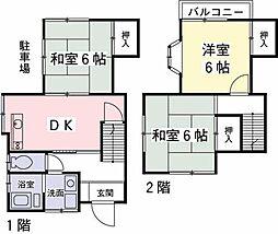 [テラスハウス] 東京都日野市落川 の賃貸【/】の間取り