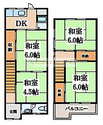 [一戸建] 大阪府堺市東区日置荘原寺町 の賃貸【/】の間取り
