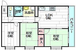 ガーデンハウス千里丘[2階]の間取り