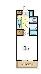 JR山陽本線 東加古川駅 徒歩2分の賃貸マンション 7階1Kの間取り
