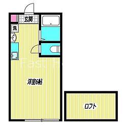 東京メトロ丸ノ内線 新高円寺駅 徒歩1分の賃貸アパート 2階1Kの間取り