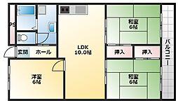 ルネアルマーニ 2階3LDKの間取り