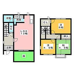 [テラスハウス] 愛知県名古屋市昭和区折戸町2丁目 の賃貸【/】の間取り