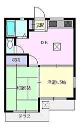 セレーノ三芳[101号室号室]の間取り