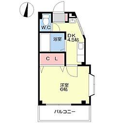 ヴィラ池田[3階]の間取り