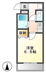 ルミナ新栄[6階]の間取り