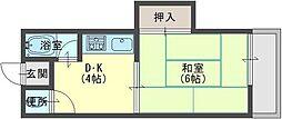 柴野荘[2階]の間取り