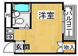 ハイツ日岡[3階]の間取り